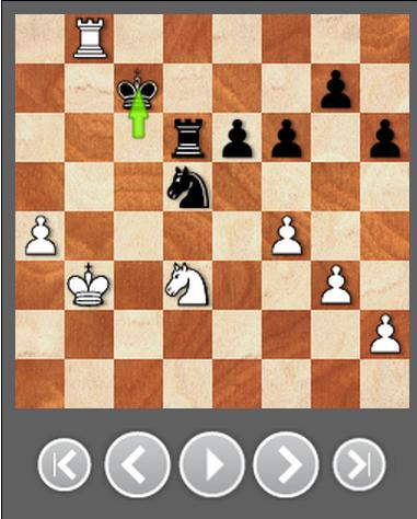 在Kc7之后,局面保持均势。卡尔森的白车本有多个选择,然而他却走了最糟糕的46.Rg8??,黑方在Ne7!之后轻松得子