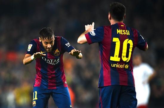 国际足球-西班牙 西甲专题 > 正文     如今巴萨的梅西-内马尔搭档,很图片