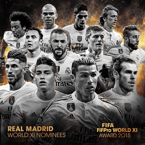 FIFA最佳阵容候选:MSN力拼BBC