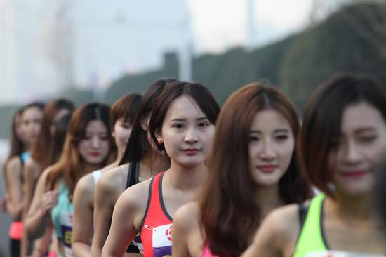 美女跑者。