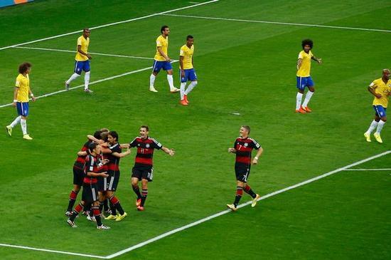 德国队大胜巴西队