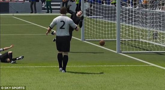 虚拟技术解开史上最大谜团!世界杯最诡异一球真进了--虚拟技术再现场景