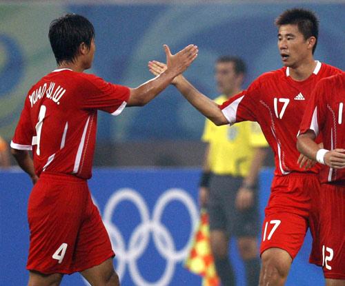 2008年的北京奥运会,董方卓破门