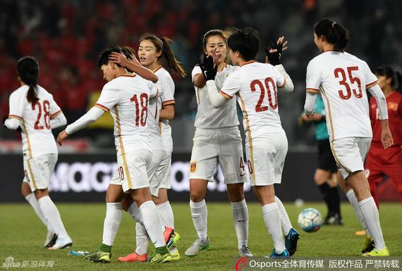 女足热身赛-中国女足8-0越南