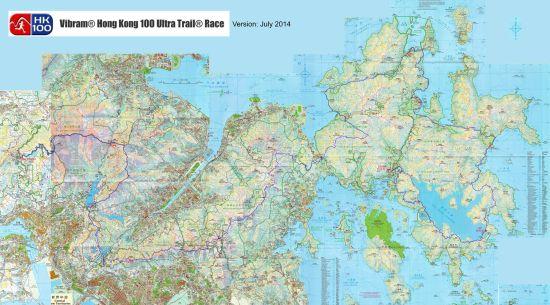 香港100起点路线图。