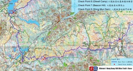 CP6至CP8路线图。