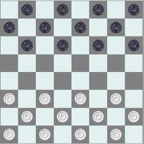 然而,仔细一看才发现棋盘上用国象棋子摆成了64格国际跳棋的样子.图片