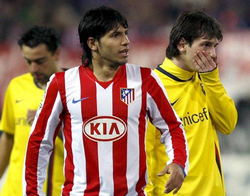 阿圭罗对阵巴萨等欧陆寒门时,进球效力仍然不变而杰出