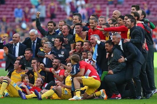 2013-14赛季在诺坎普夺得西甲冠军