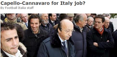 卡佩罗、卡纳瓦罗入主意大利国家队?