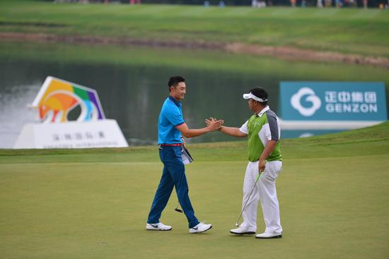 首届深圳国际赛冠亚军――泰国球手阿费巴拉特和国家小将李昊桐将再次同场竞技