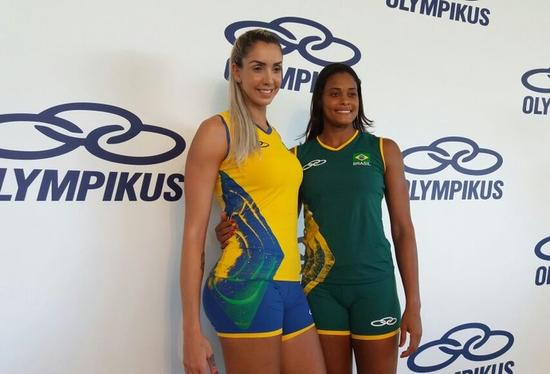 东道主巴西室内排球和沙滩排球队今天公布了征战里约奥运会的最新队服