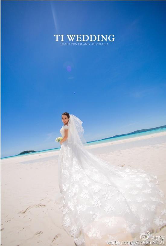 郑洁张宇在澳洲拍的婚纱照