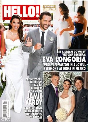瓦尔迪大婚登上杂志封面