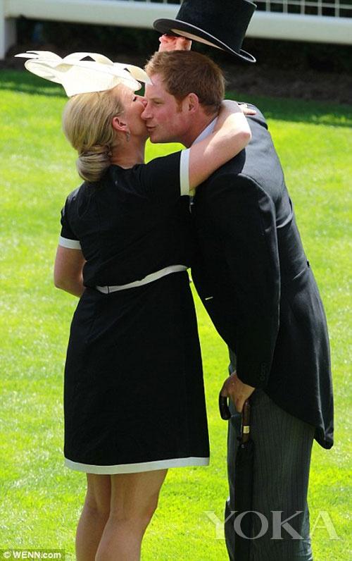 哈里王子被热情拥吻