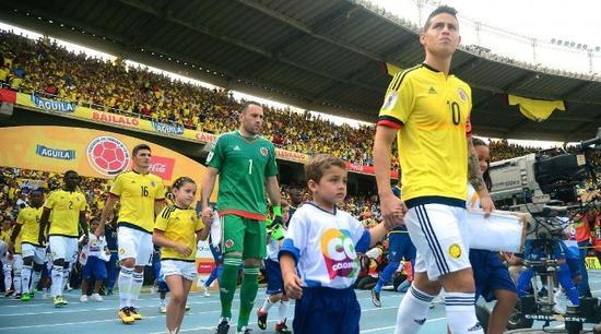 24岁的哈梅斯已经是哥伦比亚的队长