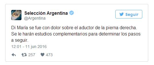 阿根廷官推通报梅西伤情
