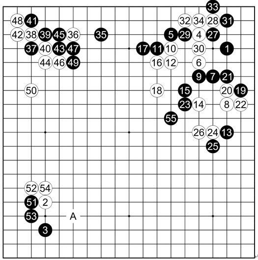 谱2利玄 执黑vs中村道硕约庆长13(1608)年 4至6月间(高目定式)