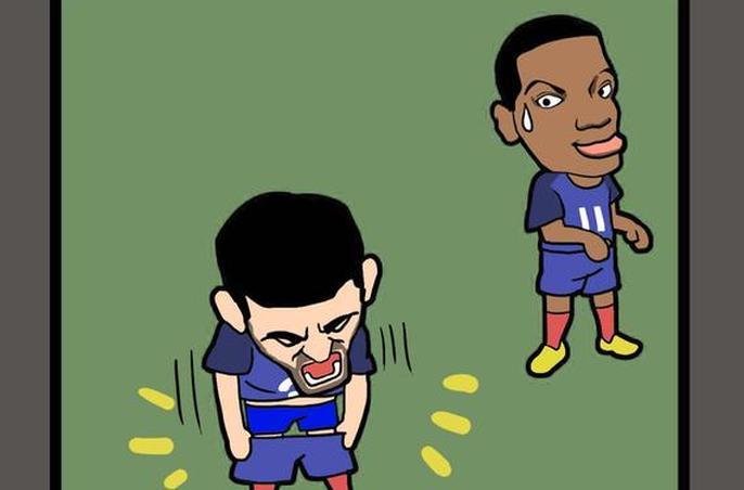 欧洲杯每日漫画:吉鲁get新称号脱裤型前锋(图)