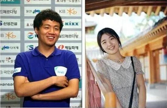 韩国顶尖棋手 李映九(左)  吴政娥(右)