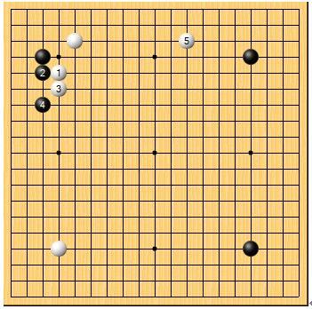 白 小林觉九段黑 武宫正树九段(1989年日本第36届NHK杯决赛)