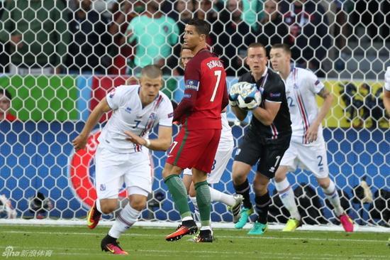 对阵冰岛,C罗狂射11脚,却带不来一场胜利