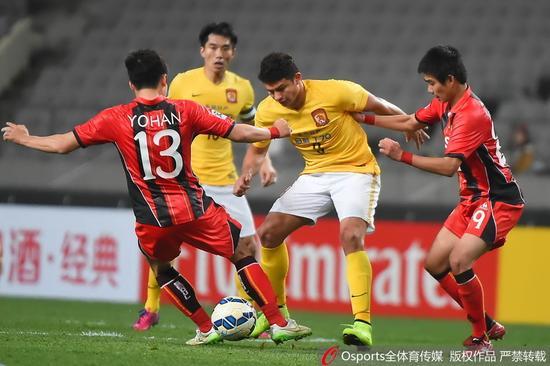 亚冠赛场上,韩国球队多次让恒大很不舒服