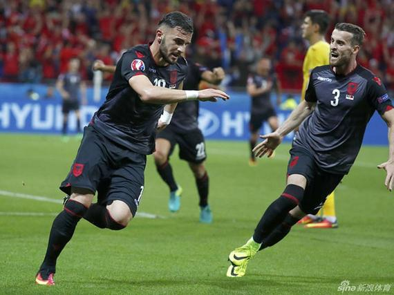 3D进球视频-萨迪库头球破门 阿尔巴尼亚欧洲杯首球