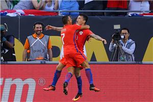 美洲杯-智利2-0十人哥伦比亚 决赛再战阿根廷