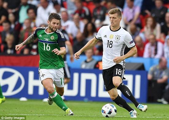 克罗斯是本届德国队的传球大师