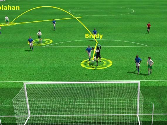 3D进球视频-胡拉汉助攻 布拉迪头球绝杀意大利