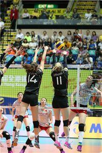 惠若琪领衔中国女排3-0轻取德国 赢大奖赛八连胜