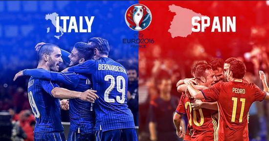 意大利和西班牙碰上了