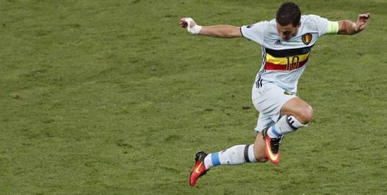 阿扎尔在对匈牙利队的比赛中表现出色,1传1射帮助球队大比分获胜