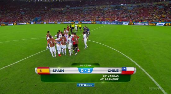 世界杯智利2-0击败西班牙
