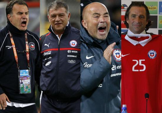智利最近四任主帅:贝尔萨、博尔吉、桑保利、皮济