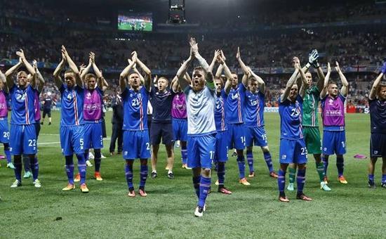 """冰岛队的""""小国奇迹""""为他们圈了一大批新粉"""