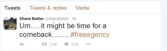 巴蒂尔推特截图