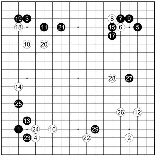 谱25中川龟三郎受先二先执黑vs秀哉大正8(1919)年5月12日