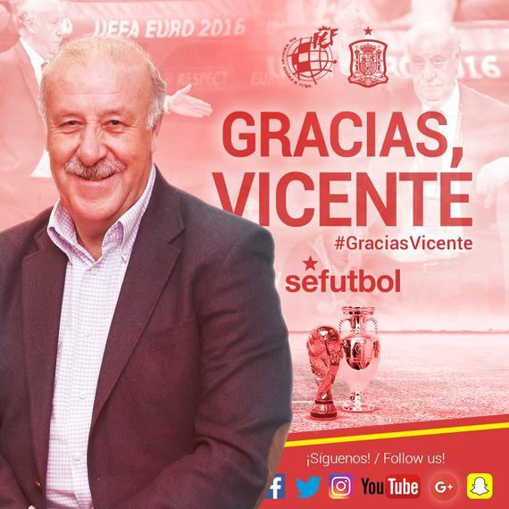 西班牙足协宣布博斯克离任 8年夺两座大赛奖杯