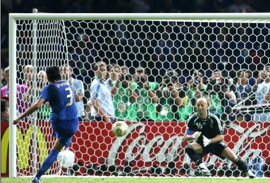 2006年世界杯是意大利仅有的一次5罚全中