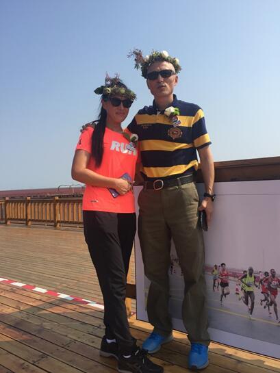 英陶国际体育赛事管理(北京)有限公司两位创始人孙英杰女士与陶绍明先生莅临现场。
