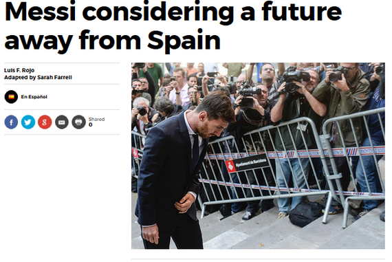 曝梅西推迟续约 西媒:他正在考虑离开巴塞罗那