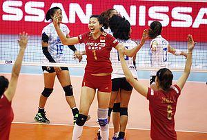 总决赛惠若琪缺阵女排3-0泰国 大奖赛第五名收官