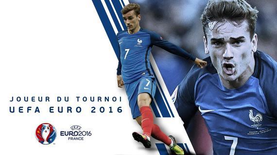 欧洲杯官方最佳球员:法国6球天神压C罗贝尔当选