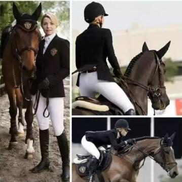魅力女骑手的美丽发型 运动赛场尽显飒爽英姿!图片