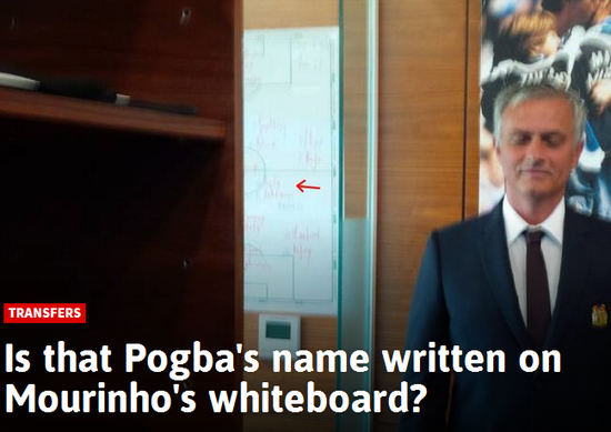 媒体:博格巴名字已经写上了?