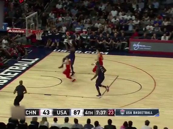 杜兰特19分美国胜中国