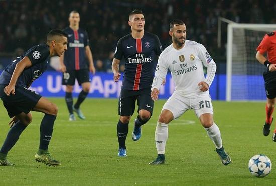 赫塞在上个赛季欧冠对阵巴黎