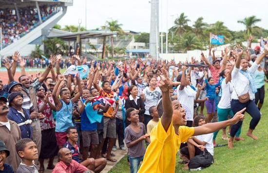 斐济首都苏瓦,沸腾的ANZ球场